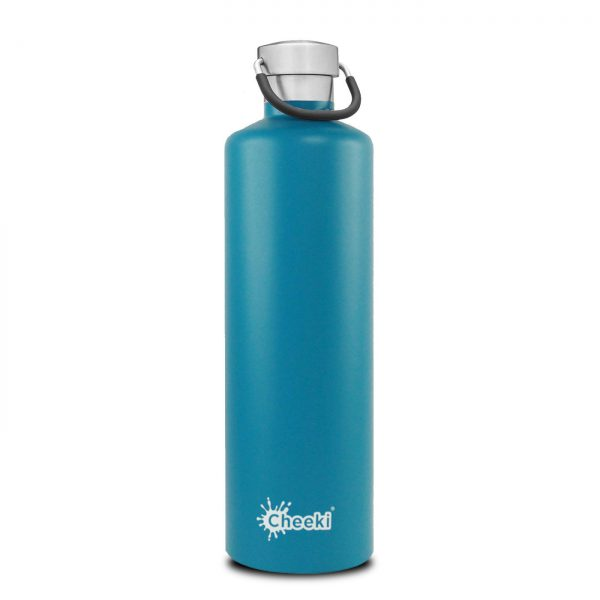 Cheeki 1L-topaz-insulated water bottle