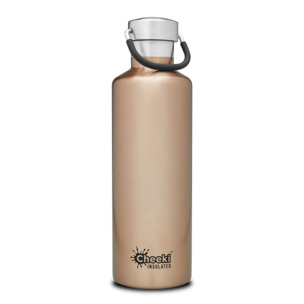 Cheeki 600ml-champayne-insulated water bottle