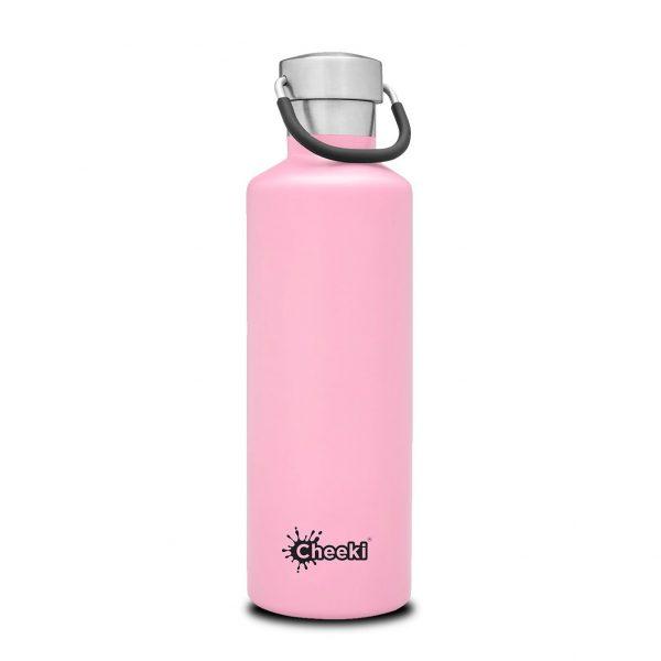 Cheeki 600ml-pink-insulated water bottle