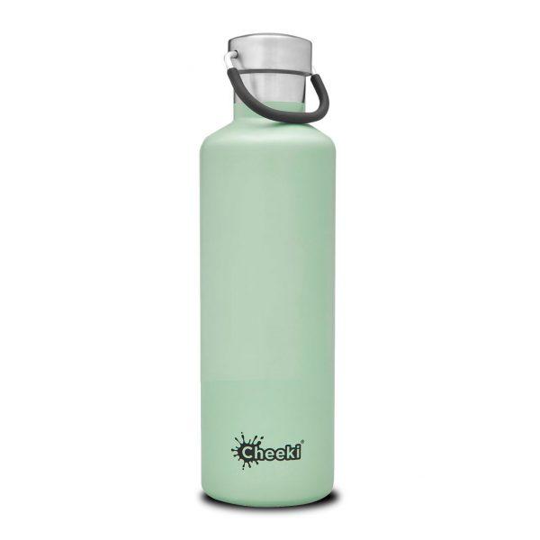 Cheeki 600ml-pistachio-insulated water bottle