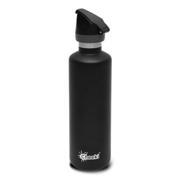 Cheeki 600ml-black-insulated water bottle